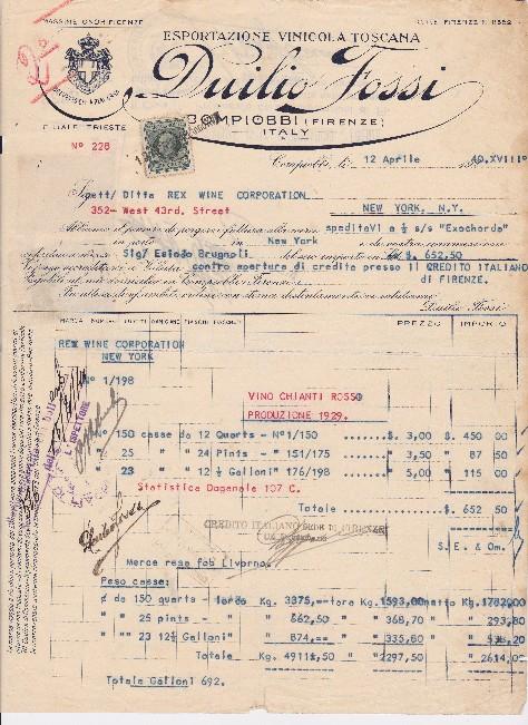 Invoice 1940